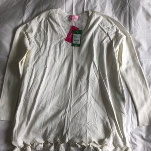 BNWT Lilly Pulitzer cream Coolmax Martine Sweater